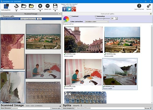 best way to copy old photos to digital format: AutoSplitter
