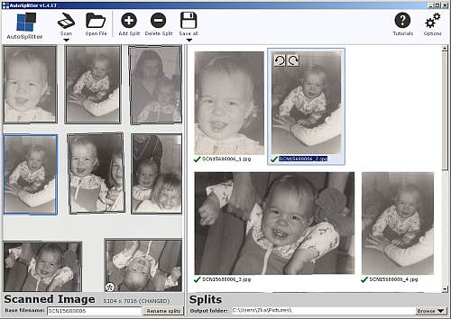 Multiple photo scanning software - save to individual files