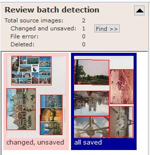 review batch of mass detected photos